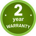 2 year warranty logo to show that the circulator comes with 2 years warranty