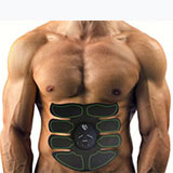 Front of EMS eight Pad Abs Core Muscle Stimulator box