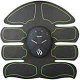 Front of EMS eight Pad Abs Core Muscle Stimulator device