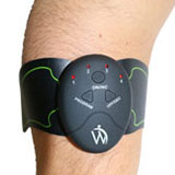 pad stimulator on arm for stimulating muscles in your arm