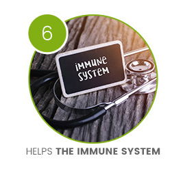circle containg stethascope to help the immune system