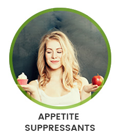 woman with cake in one hand and an apple in the other to show appetite suppressant
