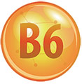 circle with b6 to represent a vitamin b6 molecule