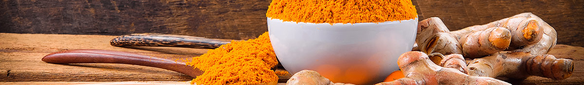 Heading banner Image for Turmeric showing turmeric powder