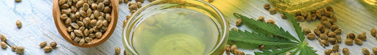 Heading Image for Hemp of hemp oil and hemp oil seeds and leaves