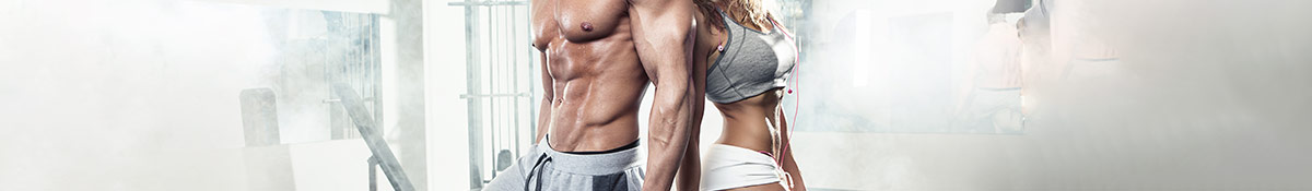 Heading banner Image for Muscle Gainers of man and woman in a gym