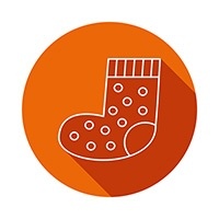 image of cartoon sock to represent patches for cellulite