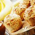 Chia, Flaxseed and Banana Oat Muffins