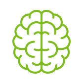 cartoon picture of a brain to represent a healthly