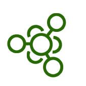 green cartoon of molecular compound to represent detoxification