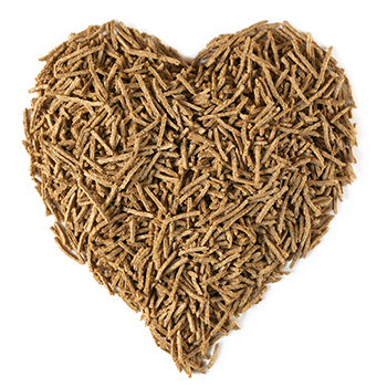 dietary fibre shaped into a heart to show that is can aid our weight management