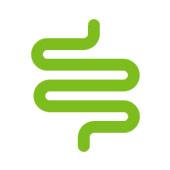 green cartoon tube twisted to look like the intestines