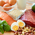 images of foods that are high in protein to aid recovery