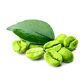 image of green coffee beans which are in raspberry ketone plus