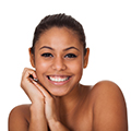 woman with healthy skin showing that Moringa powder can play an important role in skincare