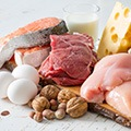 image of a bunch of foods that are high and rich in protein