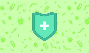 Hygienic Blue Shield