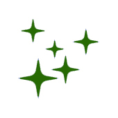green cartoon image of stars to represent revitalise