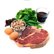 Foods with high iron content to help improve metabolism