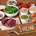 bowls of foods that are high and rich in iron which is used in fat burners