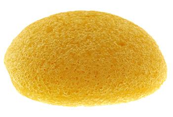 image of a konjac sponge also known as Amorphophallus Konjac sponge