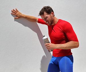 Man Struggling After Workout