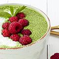 Green Matcha Chia Dessert