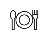 knife fork and plate to show a balanced diet during