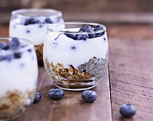 Probiotic Yogurt With Blueberries