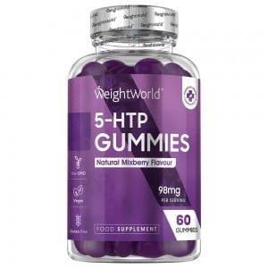 60 5-HTP Gummies 98mg, 1 month supply.
