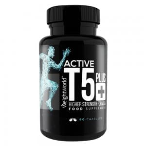 front view of active t-5 plus capsules bottle by weightworld