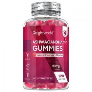 120 Ashwagandha Gummies 600mg, 4 month supply.