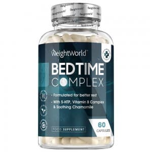Bedtime Complex Capsules - Natural Sleep Supplement By WeightWorld