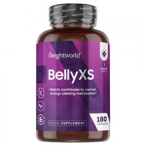 front view of weightworlds Belly XS tablets container
