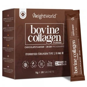 Bovine Collagen Powder with Chocolate flavour in 4000mg sachets