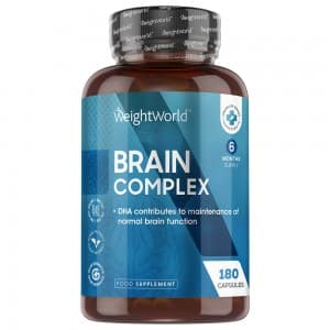 Brain Complex - Mental Performance Supplement With Brain Vitamins - 180 Capsules