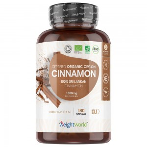 Cinnamon Capsules - Natural Herbal Wellness Spice Supplement - WeightWorld - 180 Capsules
