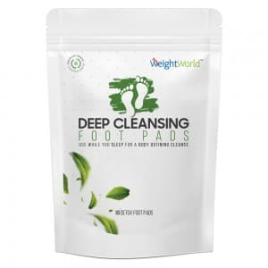 front view of WeightWorlds detox foot pads packaging