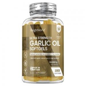 Ultra Strength Garlic Oil Softgels - Natural Wellness Supplement - WeightWorld - 180 Softgels