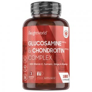 Glucosamine and Chondroitin - Natural Supplement for Joint Support - 180 Capsules