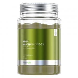 front view of weightworlds unflavoured hemp protein powder