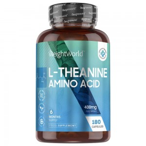 L-Theanine Capsules ,Natural Tea Supplement, 400mg 180 capsules