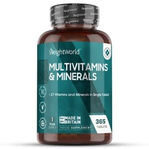Multivitamins and Minerals 365 tablets | Natural Wellbeing Supplement