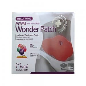 front view of MyMi's Wonder Belly Patches box label