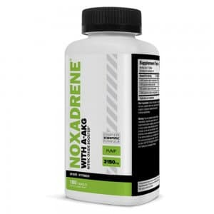 front view of noxadrene Muscle Support Supplement bottle