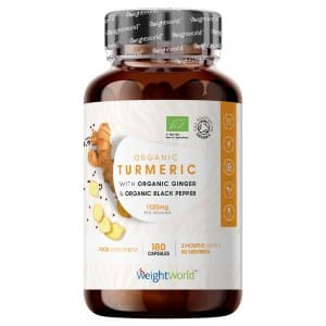 Organic Turmeric with Black Pepper and Ginger 180 Capsules