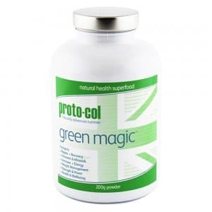 front view of proto-cols green magic superfood supplement