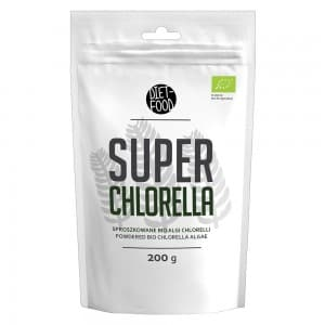 Front view of weightworlds super chlorella powder packet