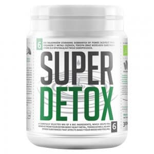 Front view of weightworlds bio super detox mix container