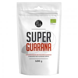 front view of diet foods super guarana seeds powder